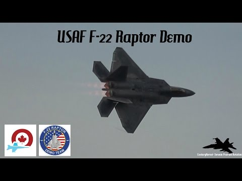 Airshow London 2016 Hour of Power- Incredible!! USAF F-22 Raptor Demo