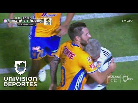 El increíble Gignac convirtió el impensado empate 2-2 de Tigres frente a Chivas