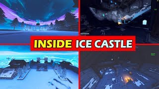 INSIDE HIDDEN ICE CASTLE! *LEAKED* FORTNITE SEASON 7 ICE MELTING STAGES!