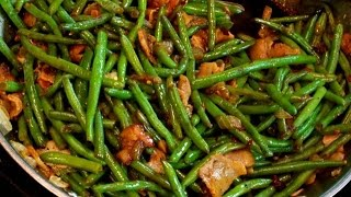 How To Make Sauteed Balsamic Green Beans With Bacon