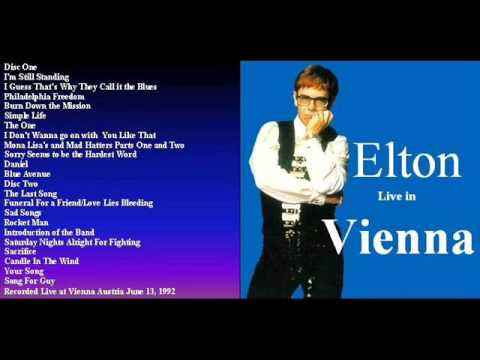 """ELTON JOHN """"VIENNA"""" 6/13/92"""