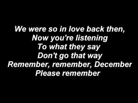 Demi Lovato - Remember December with lyrics