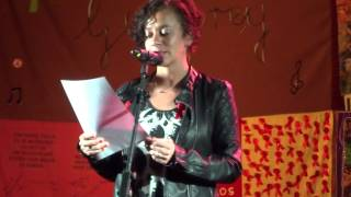 alicia eyo reading the lyrics of for a friend candle lit vigil