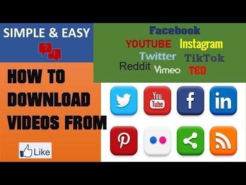 How To Download YouTube, Facebook, Twitter, TikTok,  Instagram, Vimeo, TED, Reddit Videos Easily !!