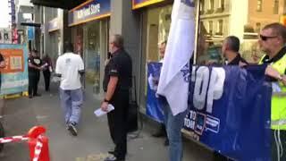 Protest at Aldi Store in Melbourne
