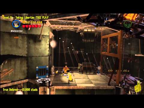 Lego Marvel Super Heroes: Level 11 Taking Liberties - FREE PLAY (Minikits and Stan In Peril) - HTG