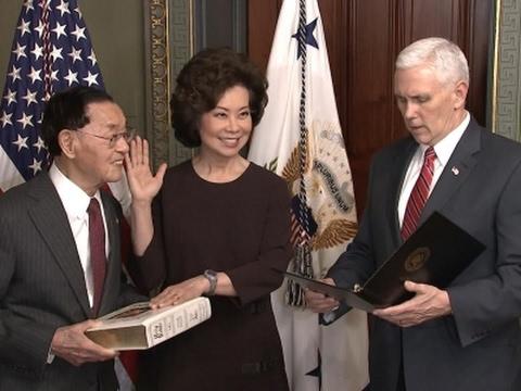 Chao Sworn in as Transportation Secretary