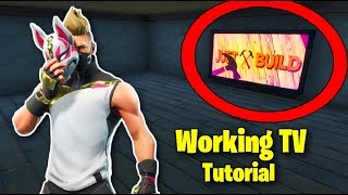 How To Build Working Tv's in Fortnite Creative!