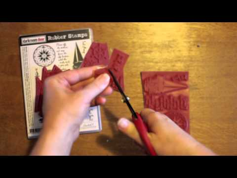 Trimming Darkroom Door Rubber Stamps