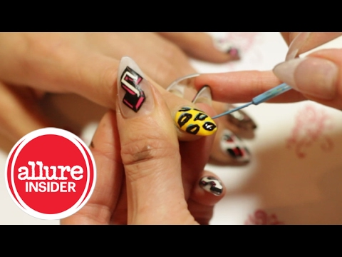 Diy Animal Print Nail Design Youtube