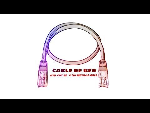 Video de Cable de red UTP CAT5E 0.30 M Gris