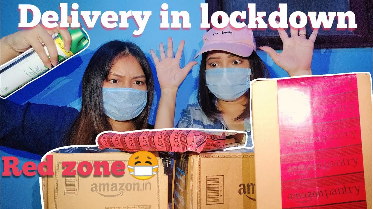 Delivery in lockdown RED ZONE | unboxing | foundation | carryminati | james charles| Amazon delivery