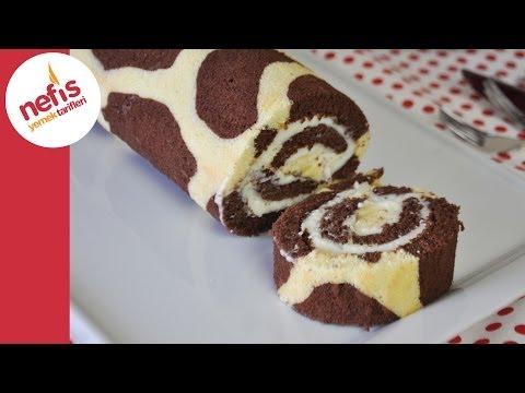 Zürafa Desenli Rulo Pasta Tarifi | Nefis Yemek Tarifleri