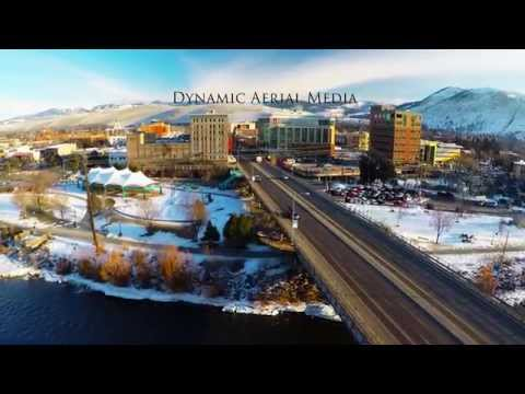 Downtown Missoula From The Air 4K
