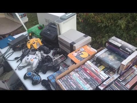 Live Flea Market/Yard Sales Video Game Hunting! Ep. 24 - Exc