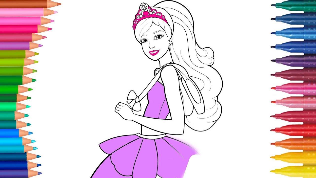 Barbie Cizgi Film Karakteri Boyama Sayfasi Minik Eller Boyama