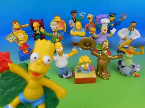 2007 THE SIMPSONS MOVIE SET OF 16 BURGER KING KID'S MEAL TOY'S VIDEO