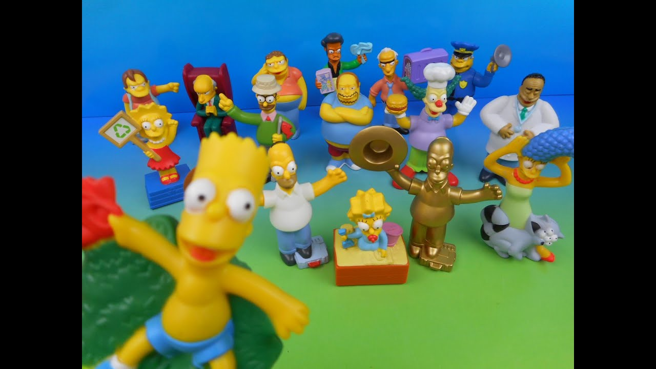 2007 The Simpsons Movie Set Of 16 Burger King Kid S Meal Toy S Video Review Youtube