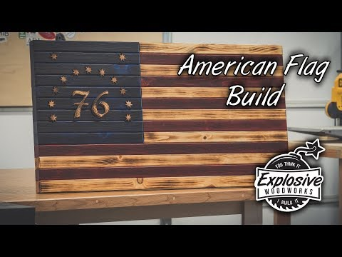 How To Make | Wood American Flag Build | DIY