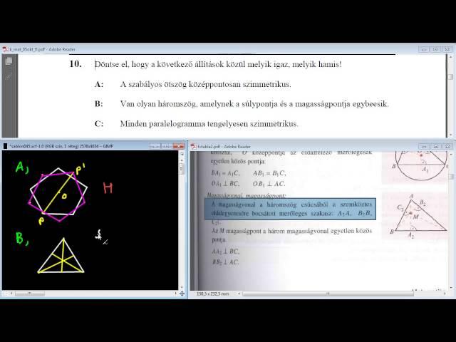 10. Feladat - Geometria (teszt)
