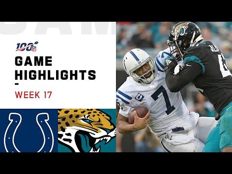 Colts vs. Jaguars Week 17 Highlights   NFL 2019