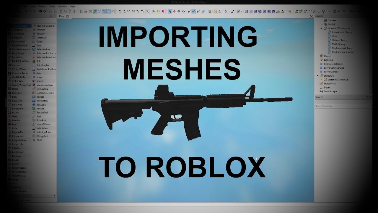 Howto Import Custom Meshes Into ROBLOX! by RobloMedia