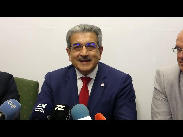Visita del Vice-Presidente del Gobierno de Canarias Román Rodríguez.