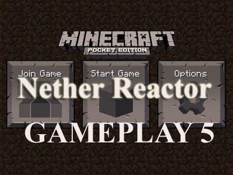 MINECRAFT Pocket Edition NETHER REACTOR GAMEPLAY 5
