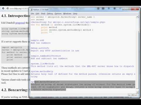 Python [XML-RPC] 02 Client Demonstration