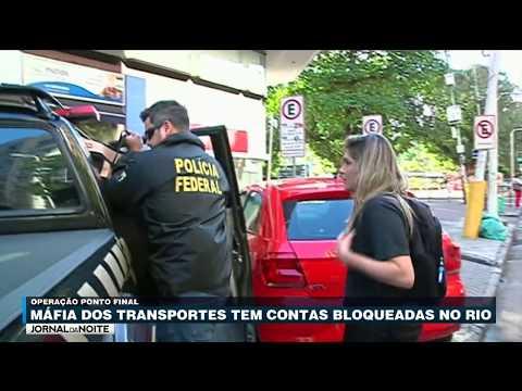Máfia Dos Transportes Tem Contas Bloqueadas No RJ