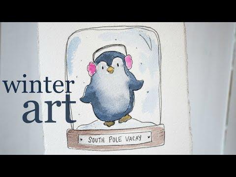 Winter Illustration Art Tutorial