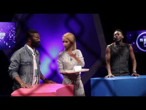 Falz acts as Olamide while Adekunle Gold impersonates Davido on The Bigger Friday Show