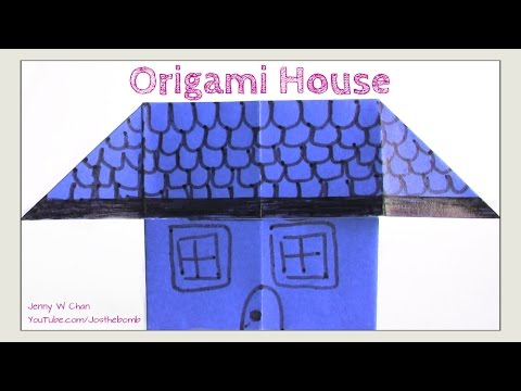Easy Origami House How To Fold Simple Origami For Kids Paper