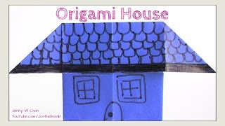 Easy Origami House - How to Fold Simple Origami - Paper Crafts