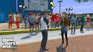 GTA 5 REAL LIFE TEEN MOD #10 SECOND DATE AT JUSTIN BIEBER'S CONCERT!