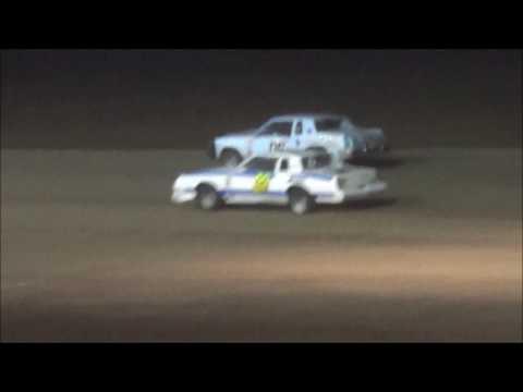 Salina Speedway Budweiser IMCA Hobby stock *Heat races & Feature* 6-16-17