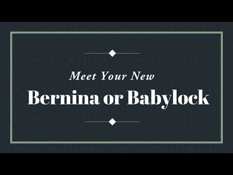 FREE Sewing Classes for Bernina, Babylock Sewing Machine Owners