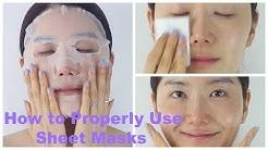 How to Properly Use Sheet Masks | Korean Sheet Masks