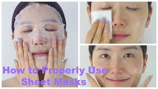 How to Properly Use Sheet Masks | Korean Sheet Masks