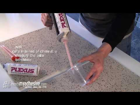 Seaming Solid Surface With Plexus Adhesive Youtube