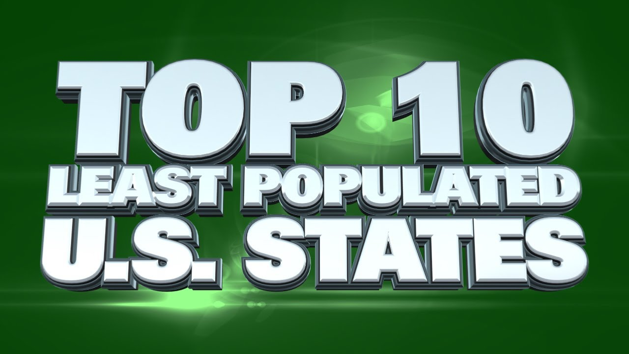 USA States With The Smallest Populations YouTube - Biggest state in usa