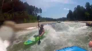 Rafting at the US National Whitewater Center (Charlotte NC) Multiple Ejections GoPro