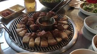 #제주 흑돼지(서귀포 꽃돼지연탄구이)