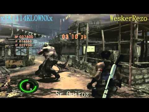 Resident Evil 5 PC: Solo Survivors XXKill4KL0WNXx, WeskerRezo & Sr Quiroz