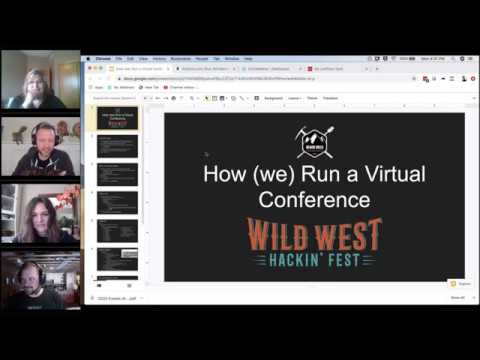 How (we) Run A Virtual Conference And How You Can, Too