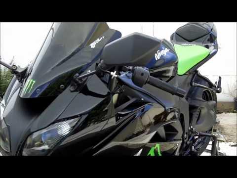 My 2009 Kawasaki Ninja ZX6R Special Edition MONSTER Energy Sportbike Walk Around Video