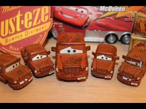 Mattel Disney Cars All Fred Variations Bumper Stickers, Fallen, Big, Small, Lenticular Diecasts
