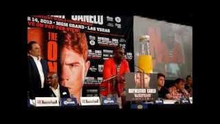 Mayweather vs Canelo Press Conference in Houston.