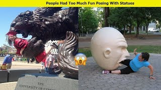 Hilarious Times People Had Too Much Fun Posing With Statues