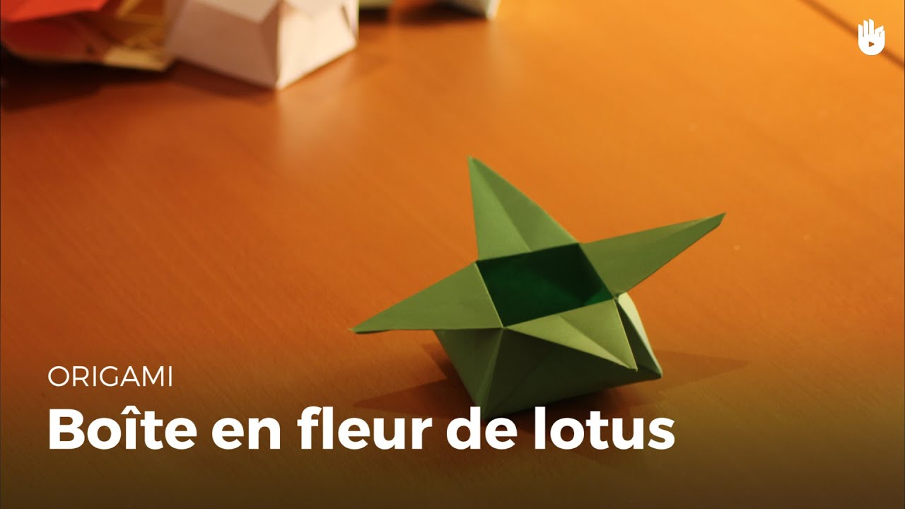 boite en papier feuille de lotus origami youtube. Black Bedroom Furniture Sets. Home Design Ideas